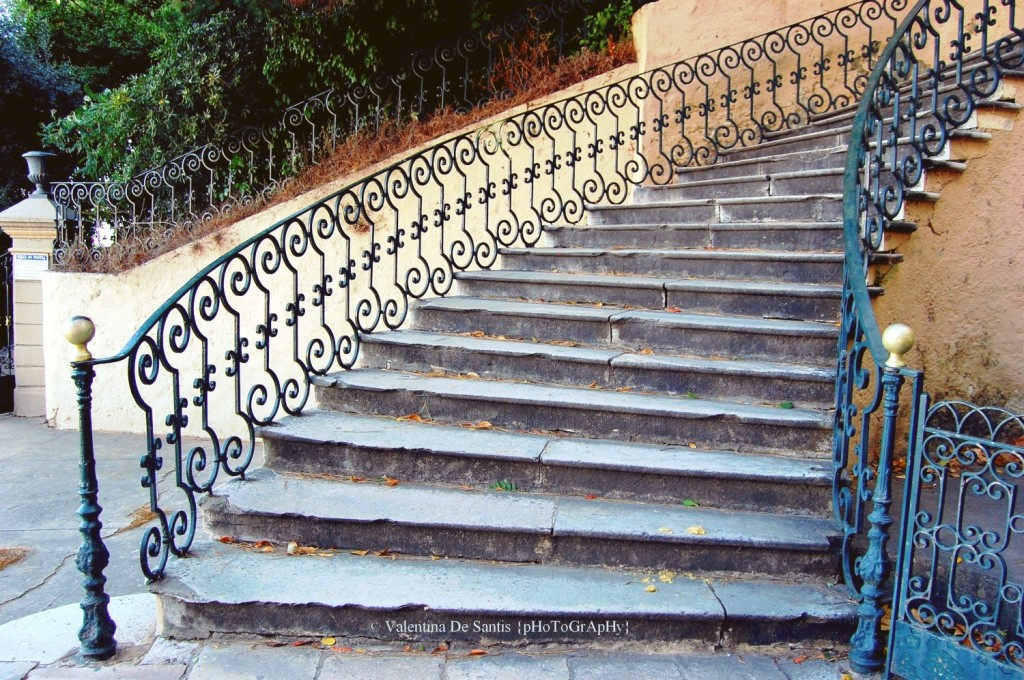 Stairs in Bastia, old harbour