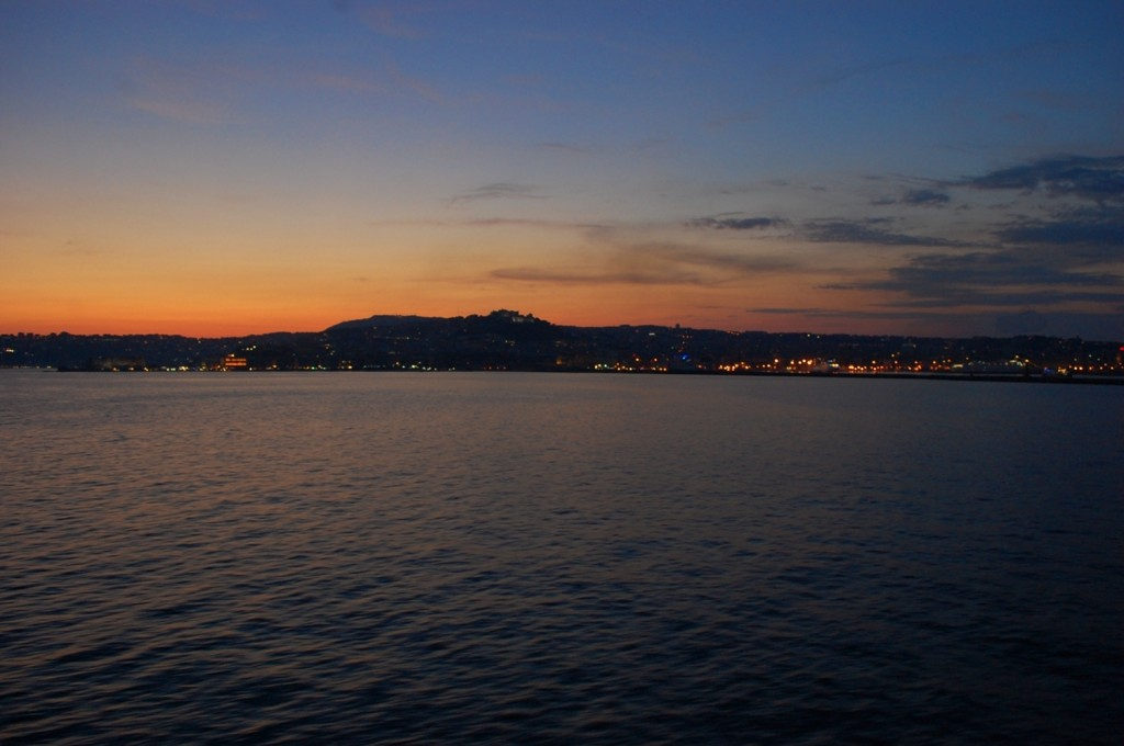 The bay of Naples on sunset