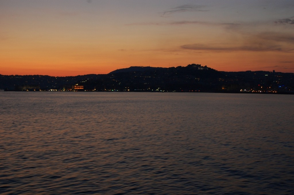 Sunset on the bay of Naples