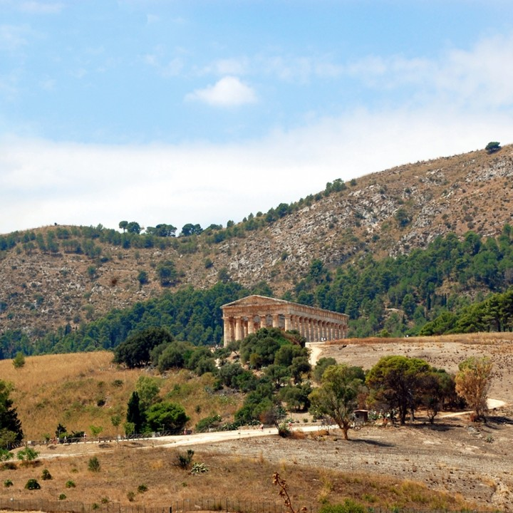 The ancient city of Segesta