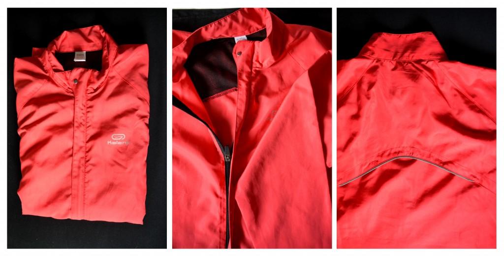I love running, my windbreaker jacket of Kalenji