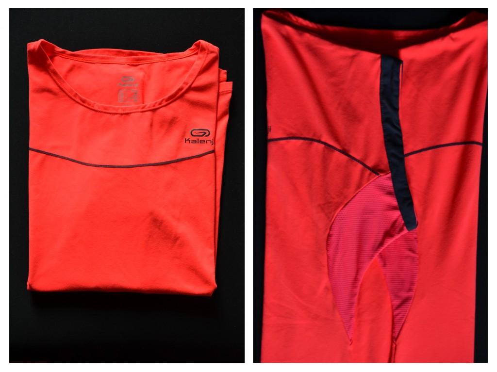 I love running, my t-shirt of Kalenji