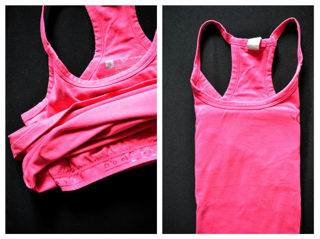 I love running, my t-shirt with bra of Domyos