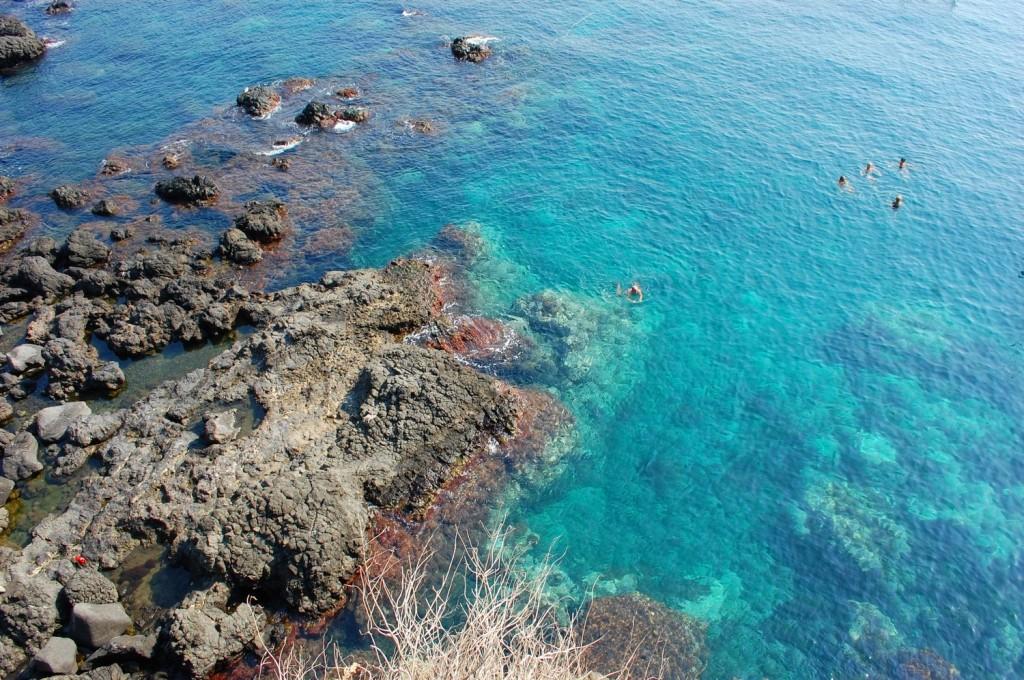 Aci Castello, the stunning sea