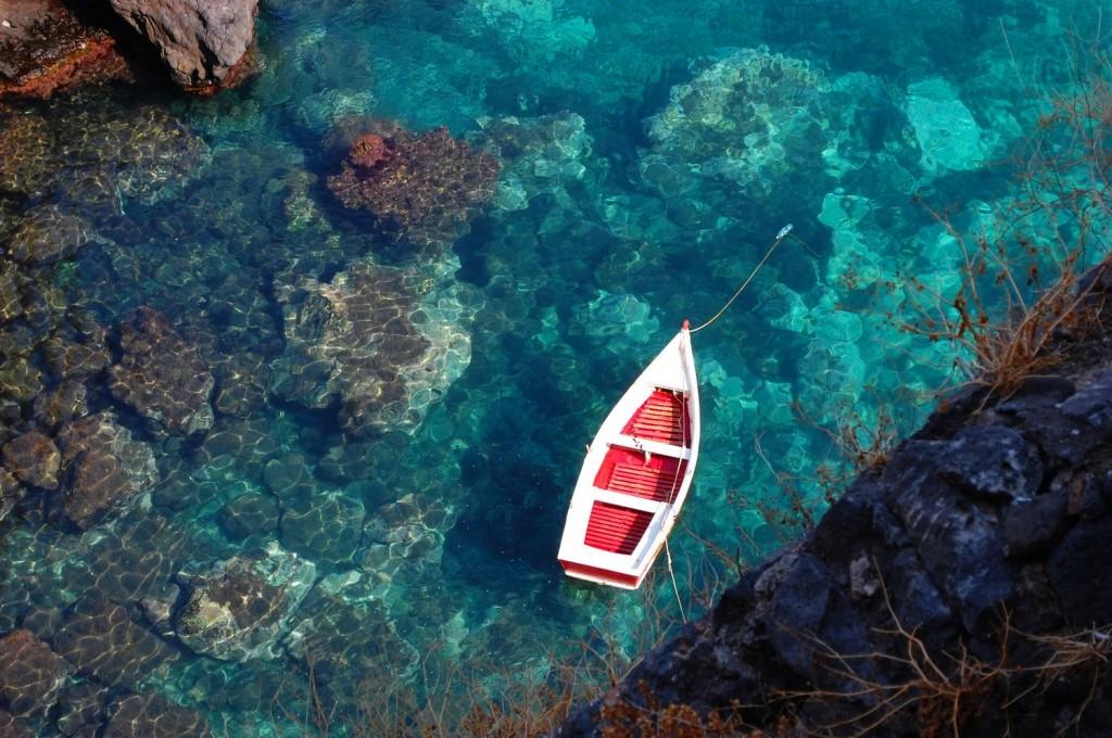 Aci Castello, the red boat