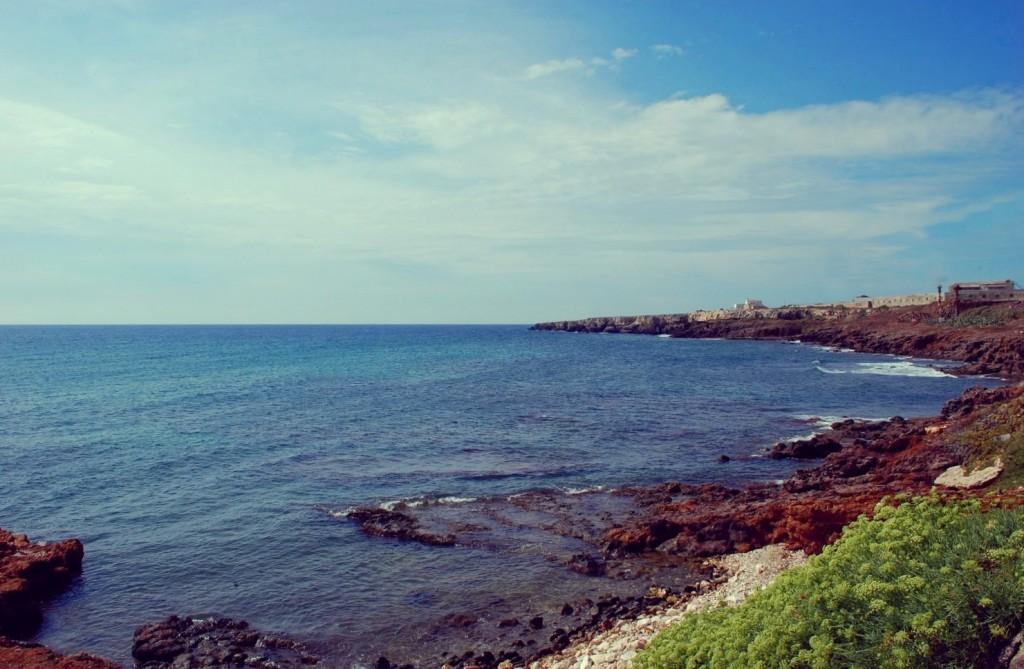 Portopalo di Capo passero, view on the sea