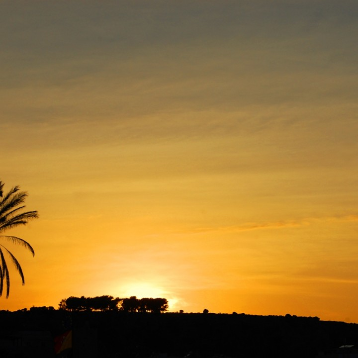 Golden sunset in San Vito lo Capo