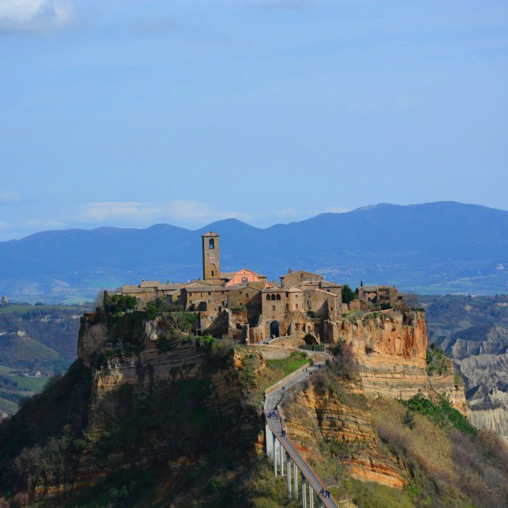 The crumbling city of Civita di Bagnoregio
