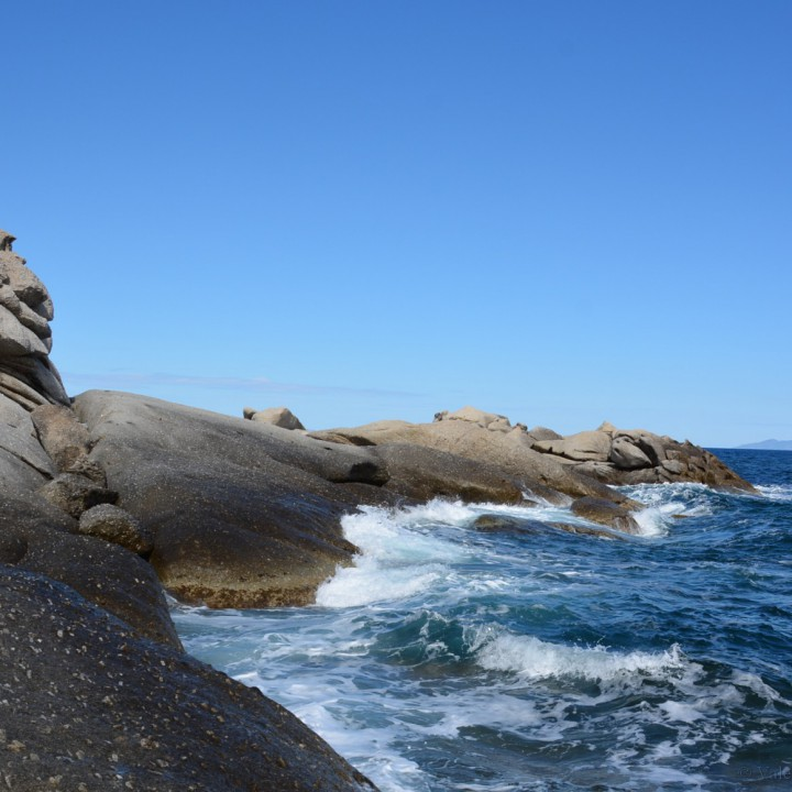 Island of Elba: on the rocks of Sant'Andrea