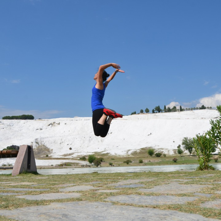 Pamukkale jump-session by day, Denizli by night