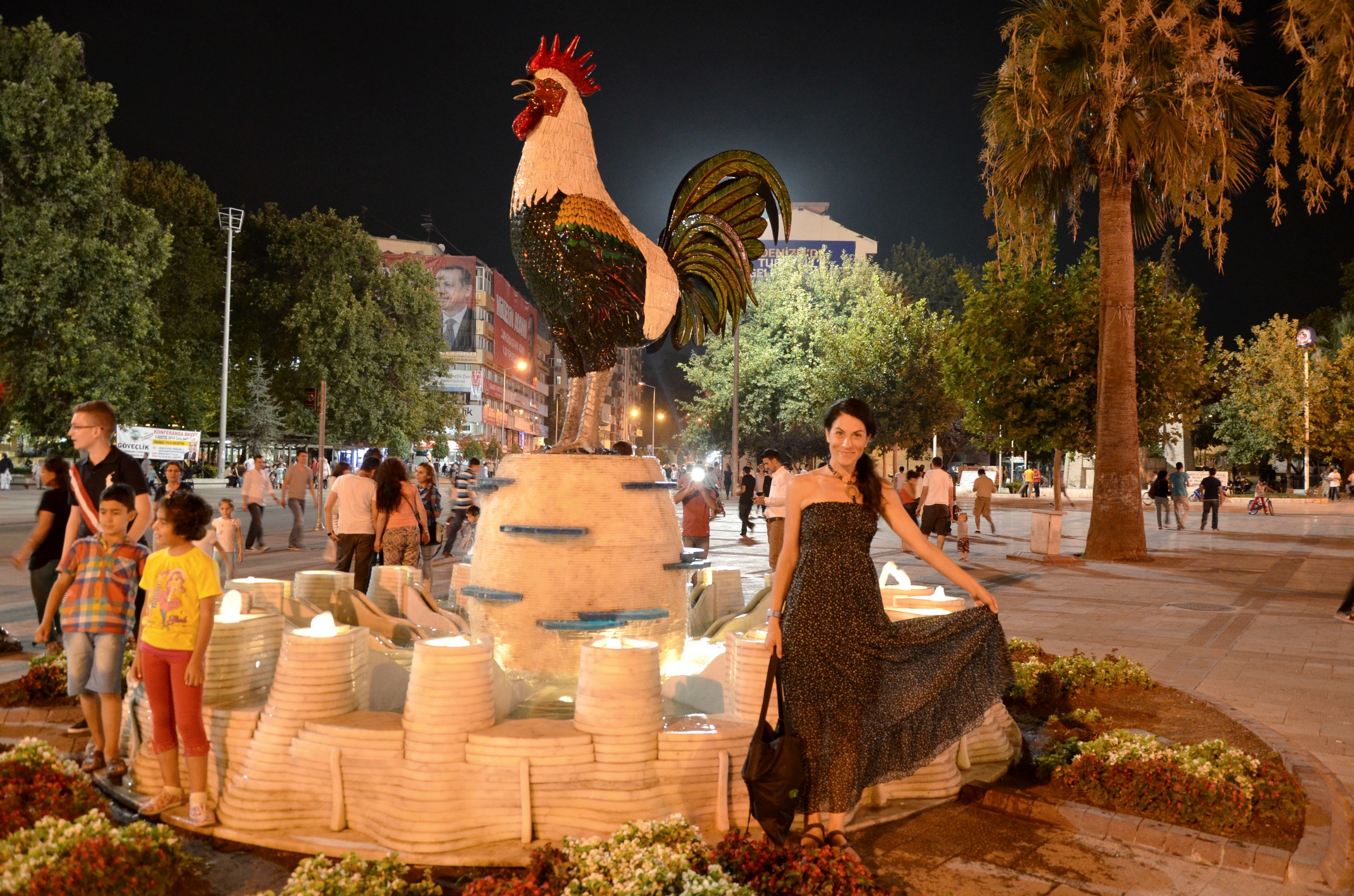 Denizli, shot with the rooster