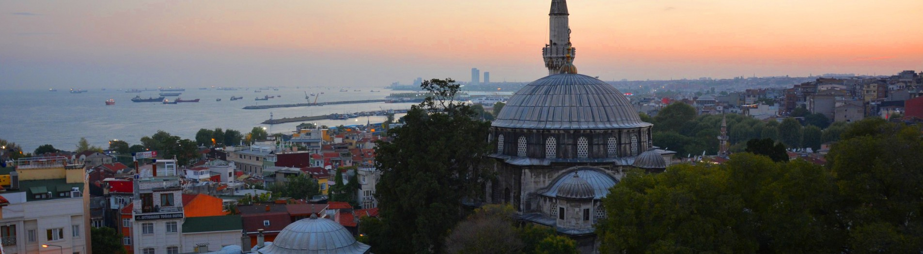 Istanbul, sunset lights