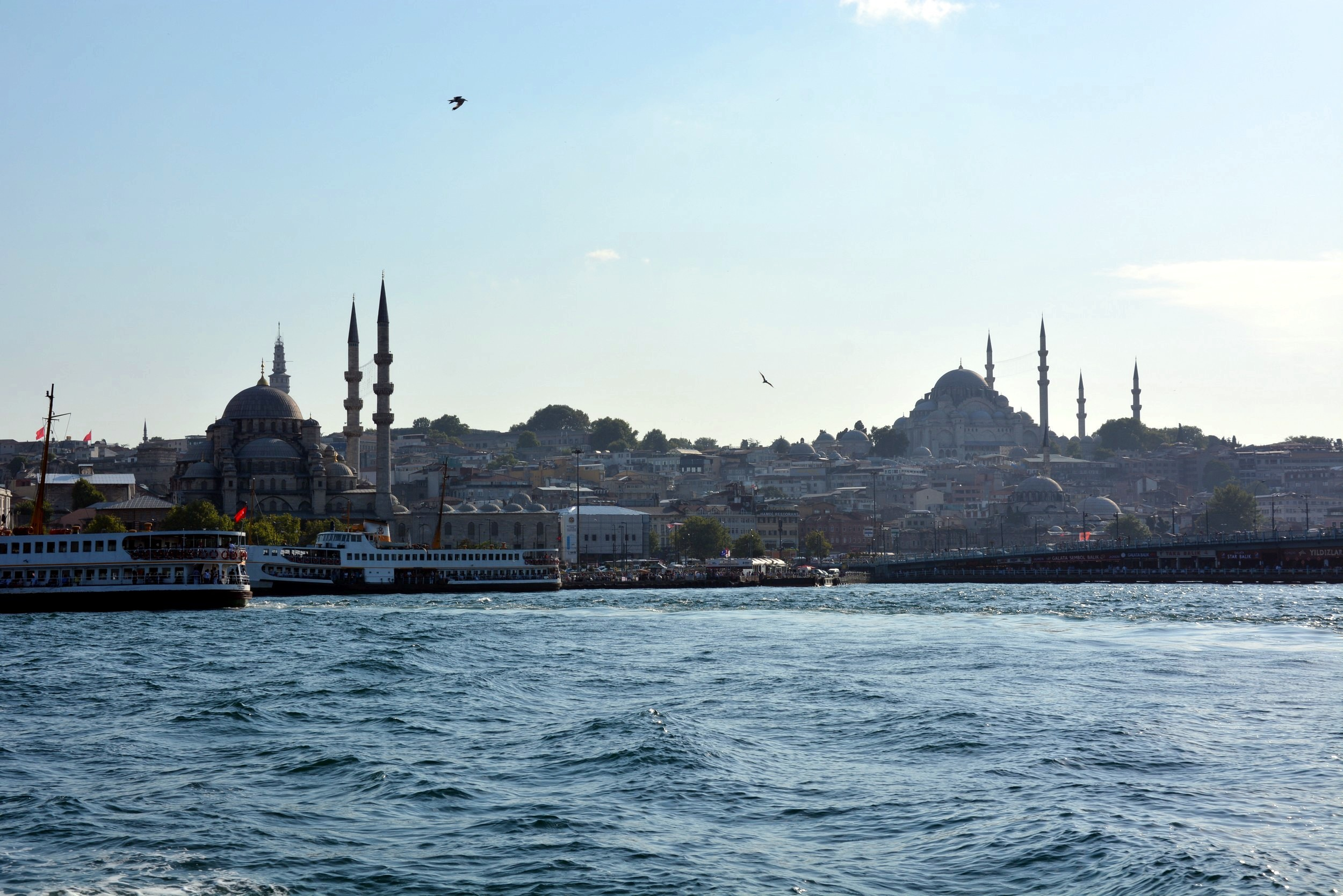 Istanbul, view of Fatih from the boat