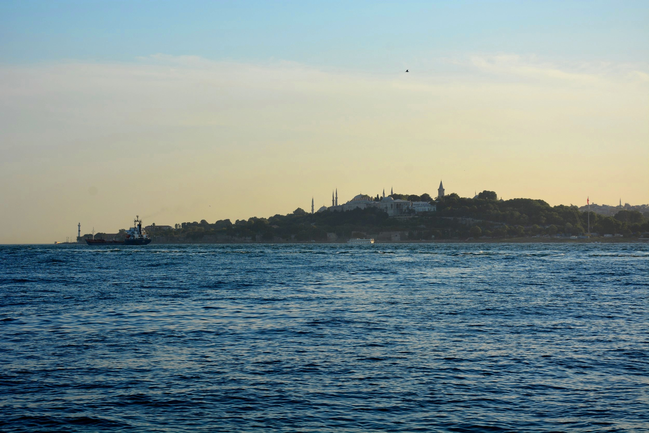 View and sunset on Sultanahmet
