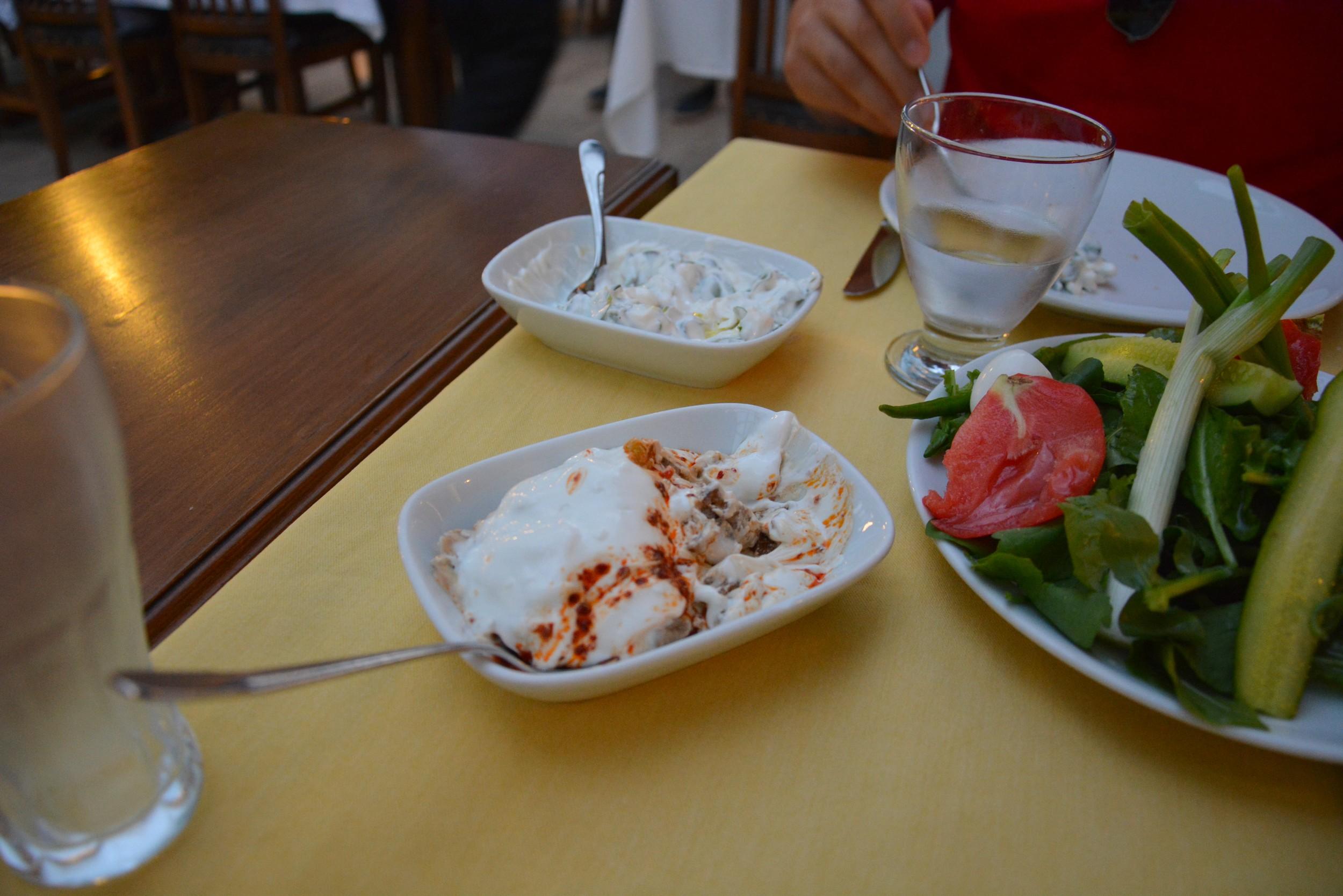 Starters at the Garson şükrü, Denizli