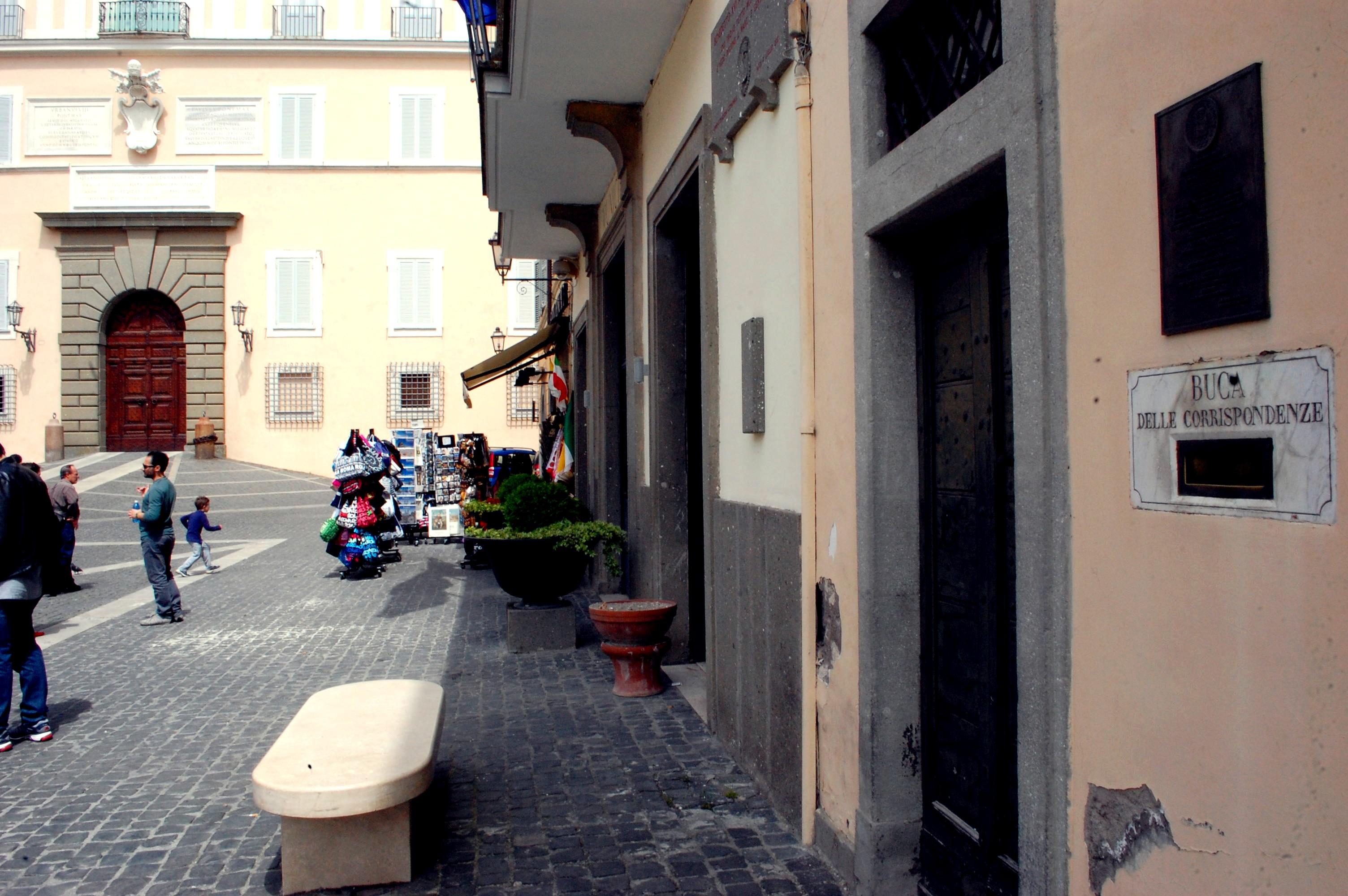 The first mailbox in the world, Castel Gandolfo
