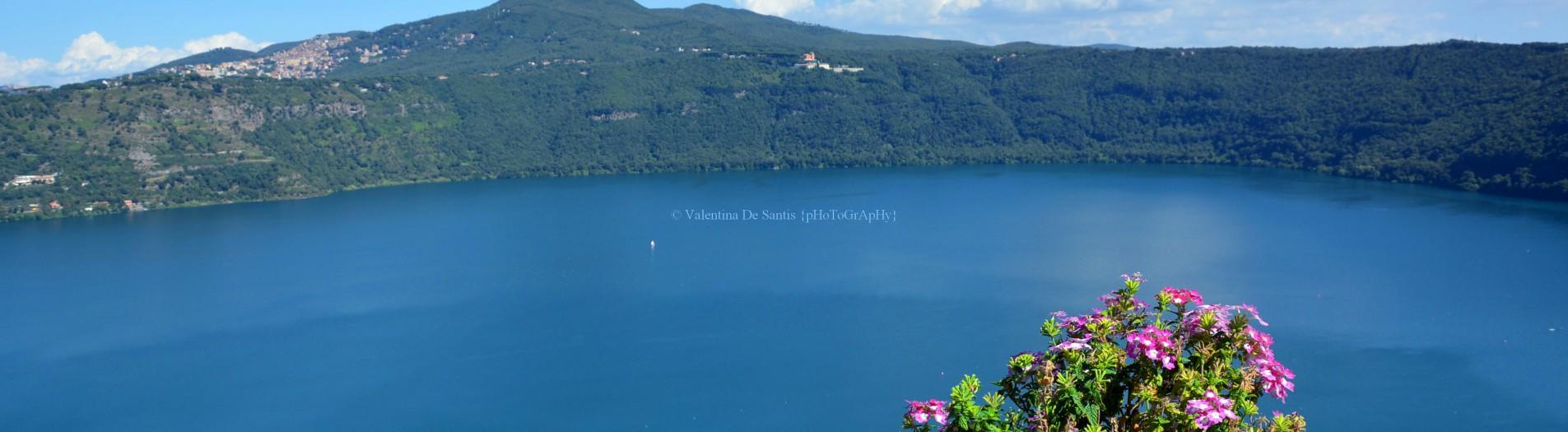 Castel Gandolfo, view of Lake Albano and Monte Cavo