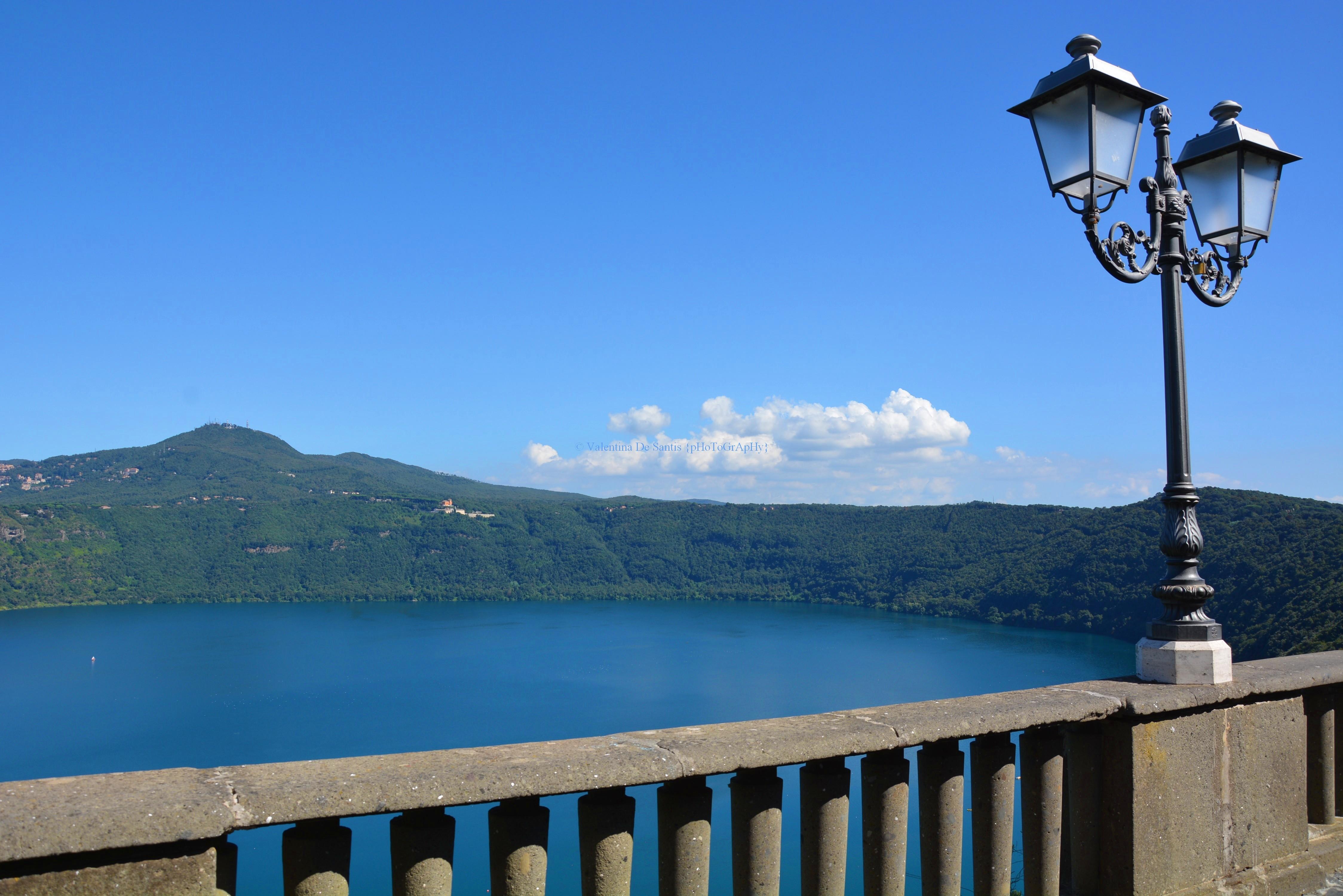 View of Monte Cavo, Lake Albano