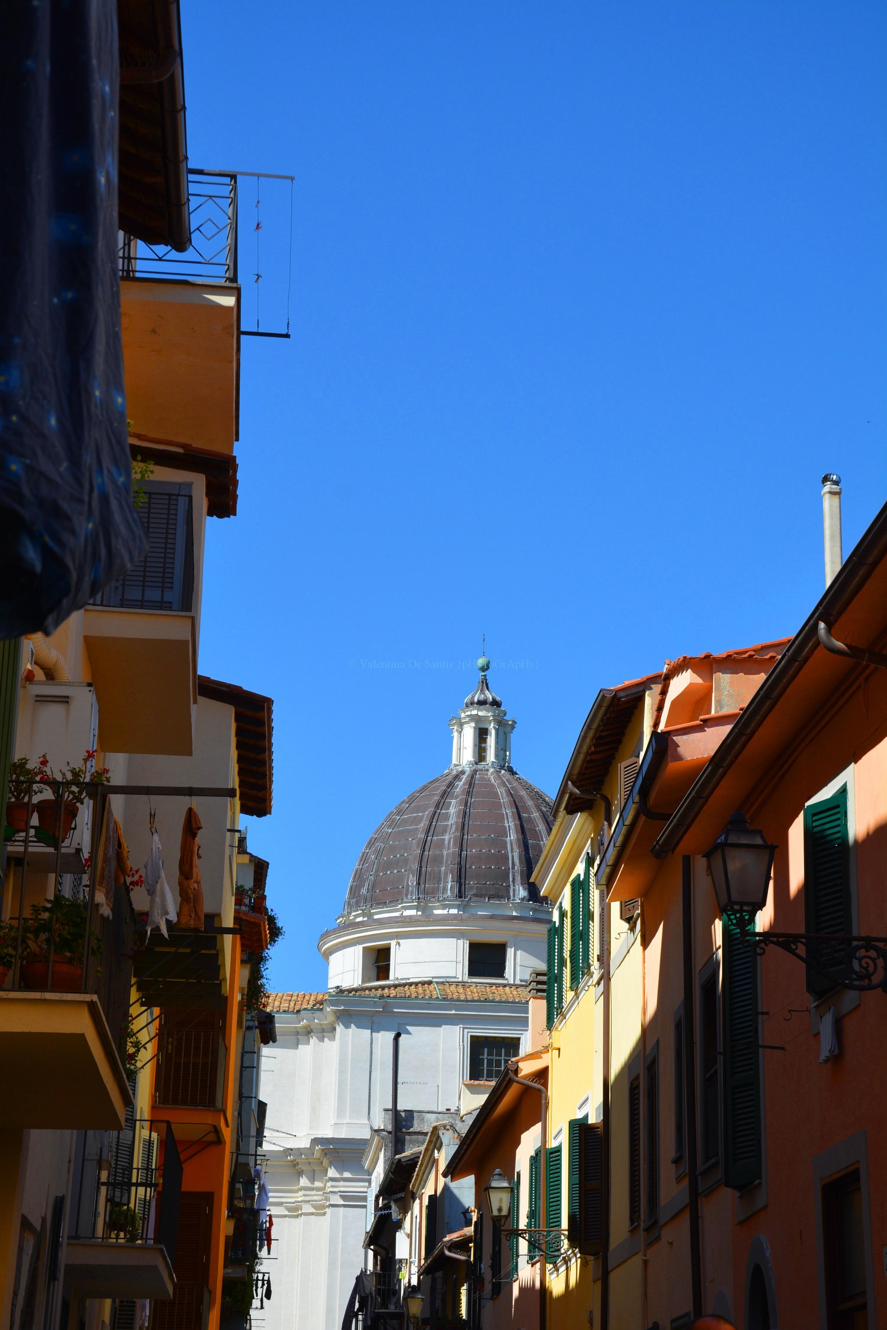 View in the street of Castel Gandolfo