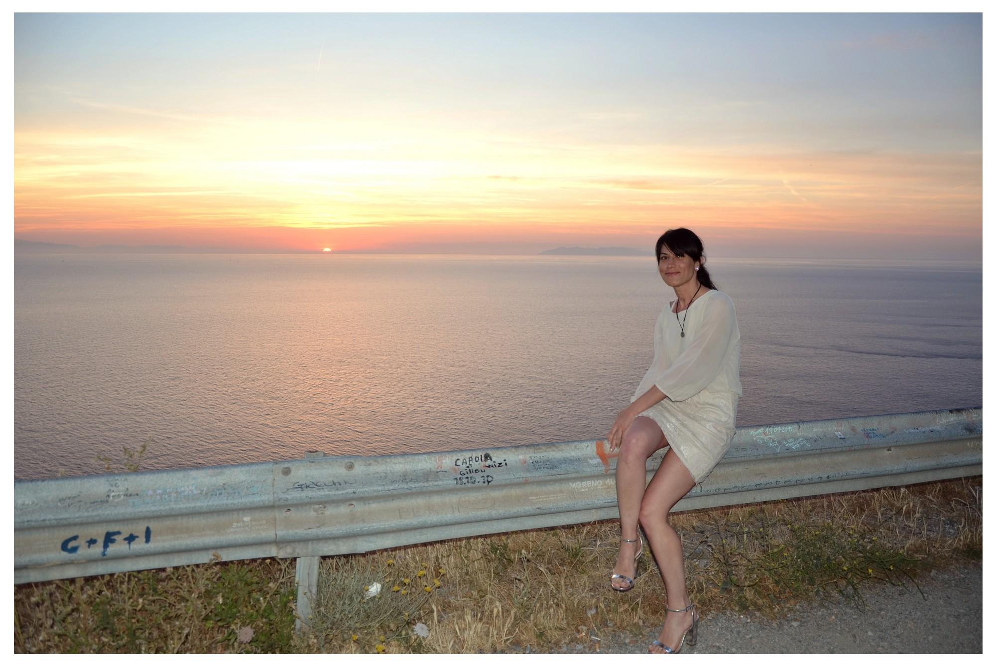 Lovely sunset at Punta Nera