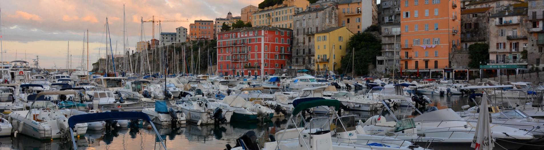 Bastia, sunset and night