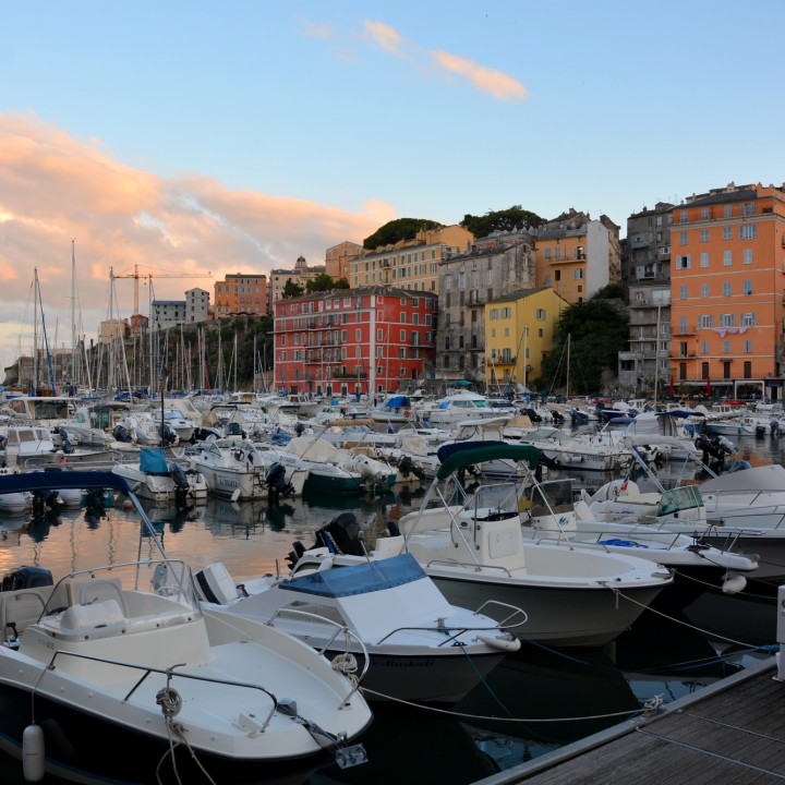 Bastia, sunset and night