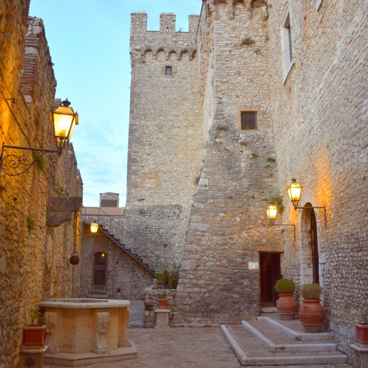 A romantic night in the Castle of Nerola