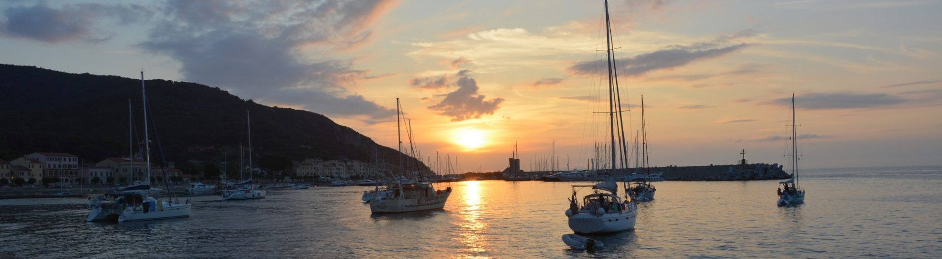 Breathtaking sunsets in Marciana Marina