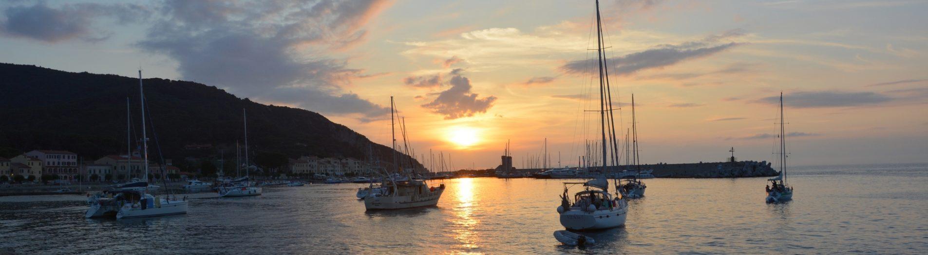 Breathtaking sunsets in Marciana Marina