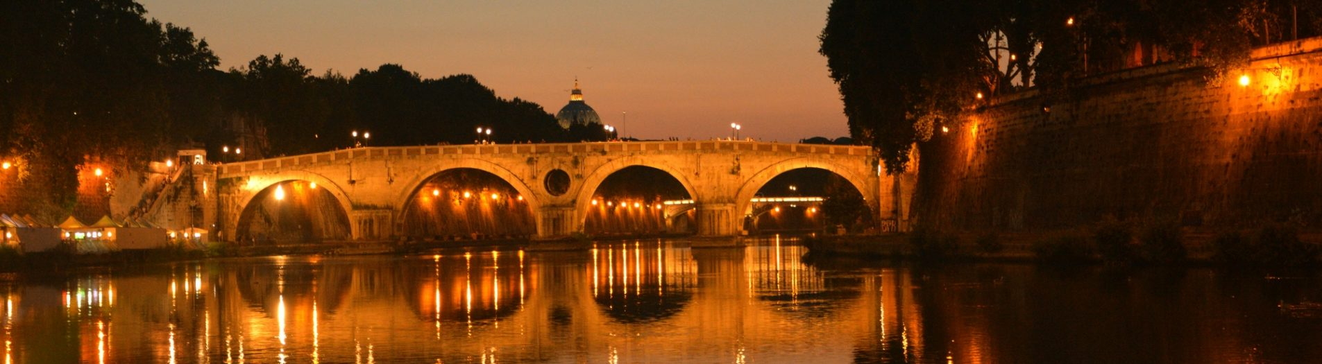 Sunset on Lungotevere