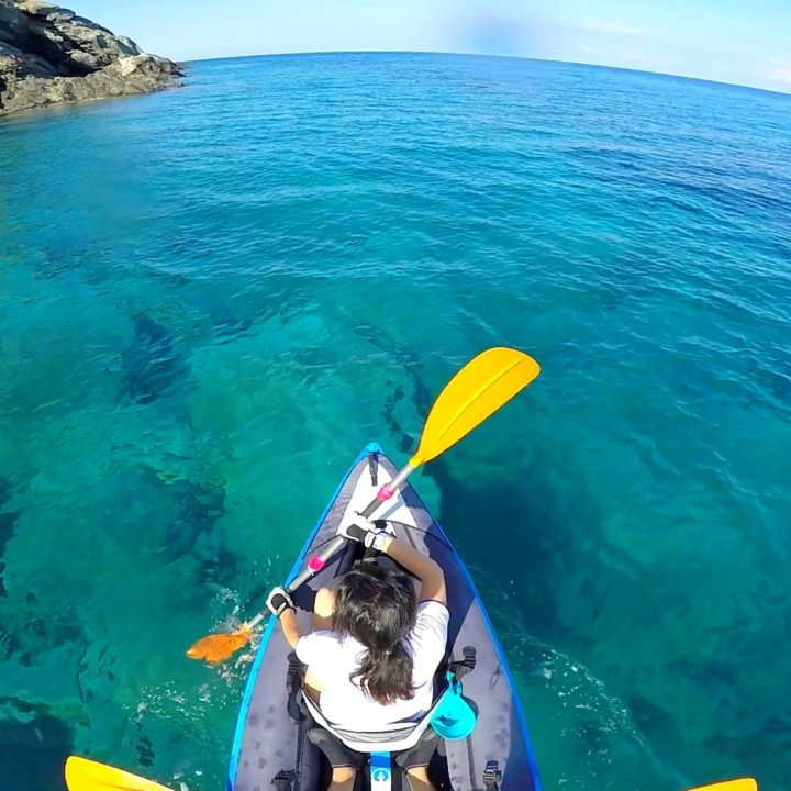 Kayaking on the blue waters of Elba