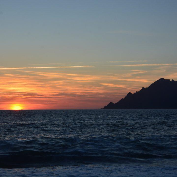 Sunset in Porto (Corsica)
