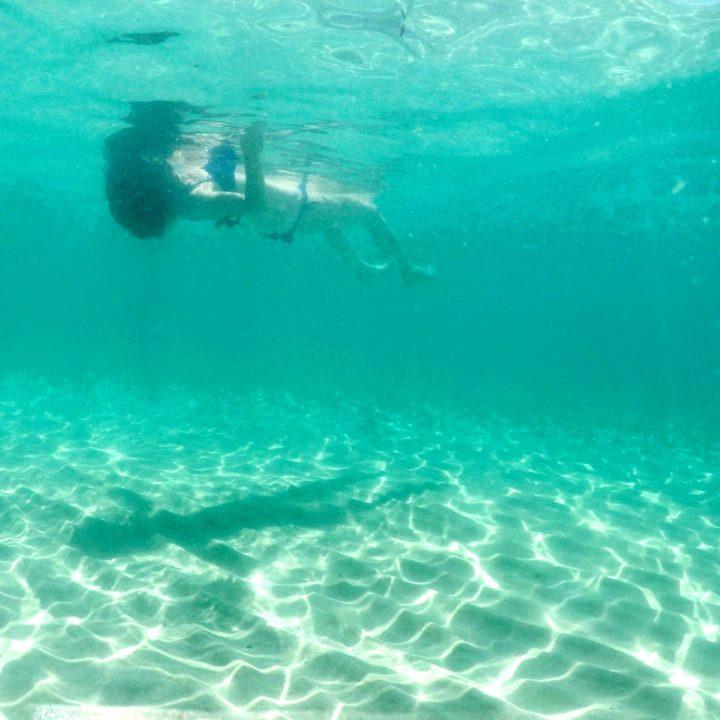 A dive in the sea of Beach Le Bombarde
