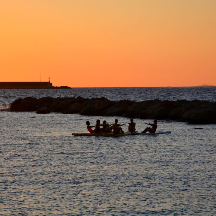 Happy Yoga (day) Sup on sunset