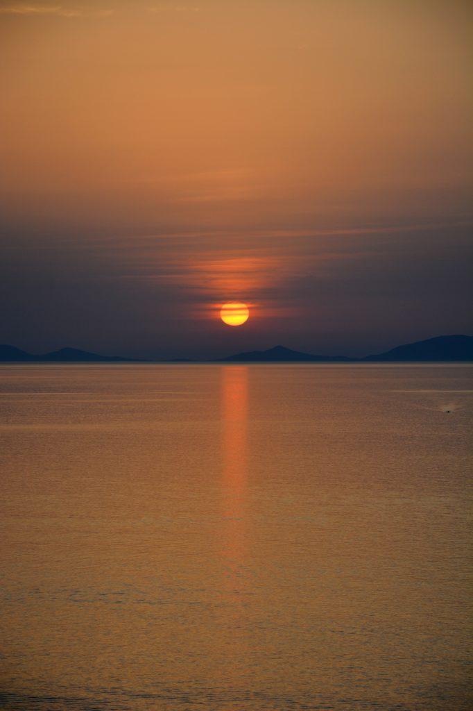 When sun goes down in Castelsardo